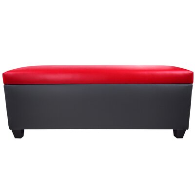 Sole Secret Retro Shoe Storage Bench Lid Upholstery Color: Red, Base Upholstery Color: Dark Gray