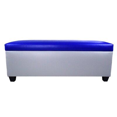 Sole Secret Retro Shoe Storage Bench Lid Upholstery Color: Blue, Base Upholstery Color: Light Gray