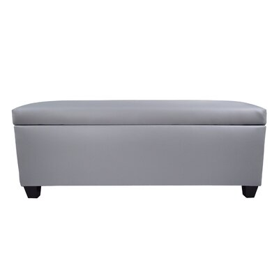 Sole Secret Retro Shoe Storage Bench Lid Upholstery Color: Light Gray, Base Upholstery Color: Light Gray