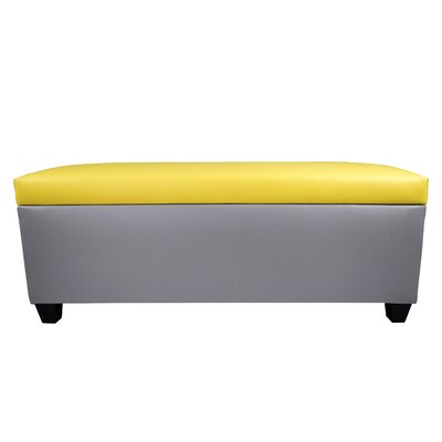 Sole Secret Retro Shoe Storage Bench Lid Upholstery Color: Yellow, Base Upholstery Color: Light Gray