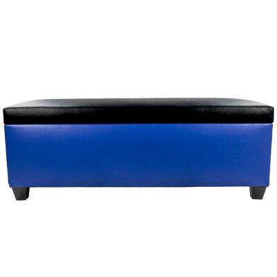 Sole Secret Retro Shoe Storage Bench Lid Upholstery Color: Black, Base Upholstery Color: Blue
