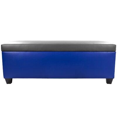 Sole Secret Retro Shoe Storage Bench Lid Upholstery Color: Dark Gray, Base Upholstery Color: Blue