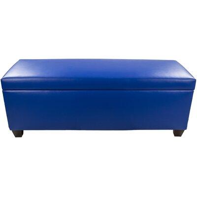 Sole Secret Retro Shoe Storage Bench Lid Upholstery Color: Blue, Base Upholstery Color: Blue