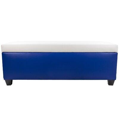 Sole Secret Retro Shoe Storage Bench Lid Upholstery Color: White, Base Upholstery Color: Blue