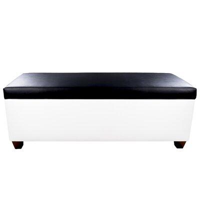 Sole Secret Retro Shoe Storage Bench Lid Upholstery Color: Black, Base Upholstery Color: White