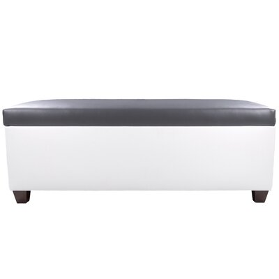 Sole Secret Retro Shoe Storage Bench Lid Upholstery Color: Dark Gray, Base Upholstery Color: White