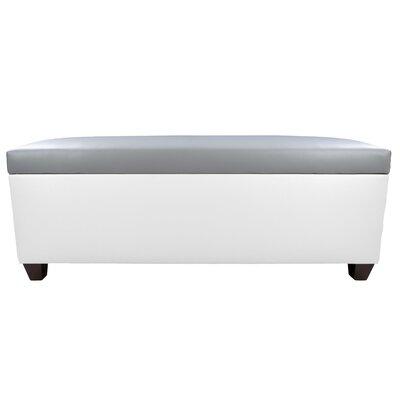 Sole Secret Retro Shoe Storage Bench Lid Upholstery Color: Light Gray, Base Upholstery Color: White