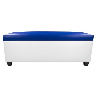 Sole Secret Retro Shoe Storage Bench Lid Upholstery Color: Blue, Base Upholstery Color: White
