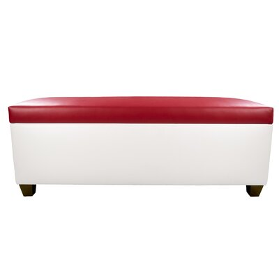 Sole Secret Retro Shoe Storage Bench Lid Upholstery Color: Red, Base Upholstery Color: White