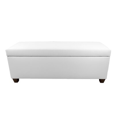 Sole Secret Retro Shoe Storage Bench Lid Upholstery Color: White, Base Upholstery Color: White