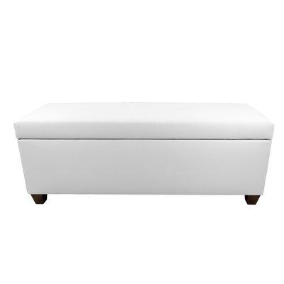 Sole Secret Retro Shoe Storage Bench Lid Upholstery Color: White, Base Upholstery Color: White