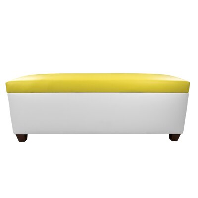 Sole Secret Retro Shoe Storage Bench Lid Upholstery Color: Yellow, Base Upholstery Color: White