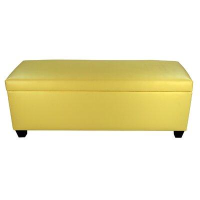 Sole Secret Retro Shoe Storage Bench Lid Upholstery Color: Yellow, Base Upholstery Color: Yellow