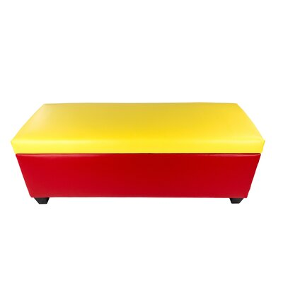 Sole Secret Retro Shoe Storage Bench Lid Upholstery Color: Yellow, Base Upholstery Color: Red