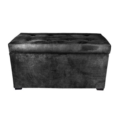Obsession Storage Bench Color: Charcoal