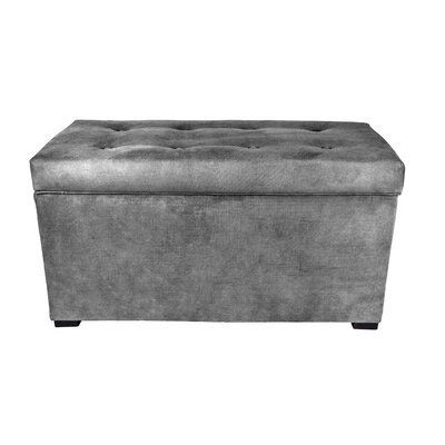 Obsession Storage Bench Color: Gray