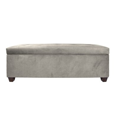 Heaney Upholstered Storage Bench Upholstery Color: Platinum