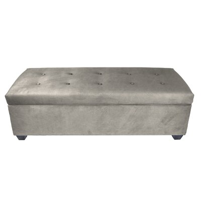 Hayworth Button Tufted Upholstered Storage Bench Upholstery Color: Platinum