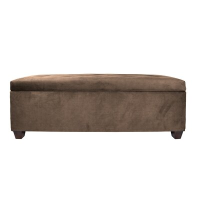 Hayworth Button Tufted Upholstered Storage Bench Upholstery Color: Brown