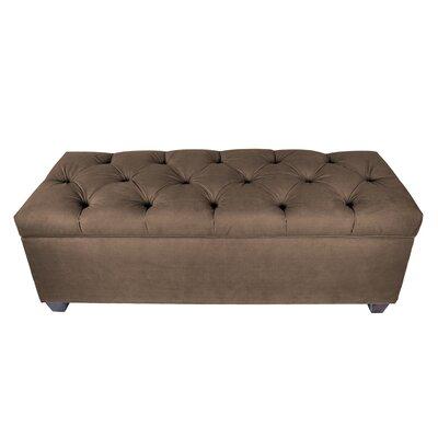 Erik Wood Storage Bench Upholstery: Brown