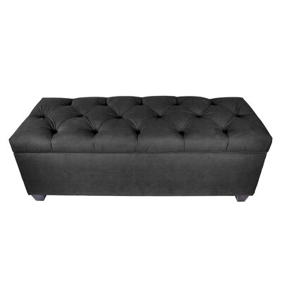 Erik Wood Storage Bench Upholstery: Charcoal