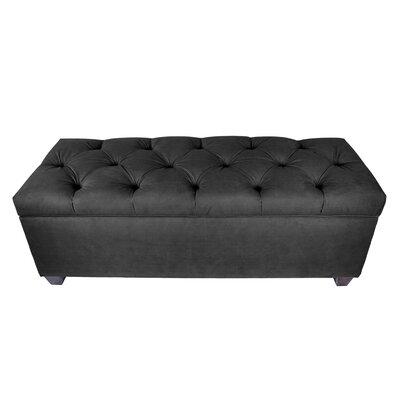 Erik Wood Storage Bench Upholstery: Charcoal