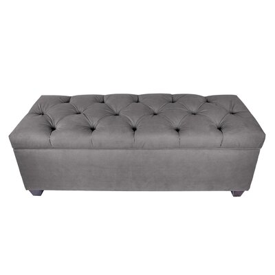 Erik Wood Storage Bench Upholstery: Gray