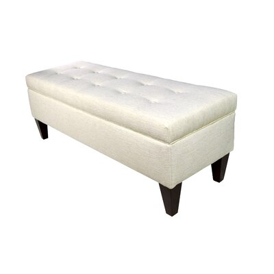Belfast Wood Storage Bench Color: Ivory