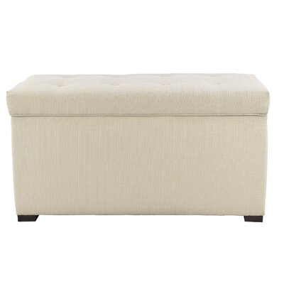 Fabric Storage Bench Color: Beige