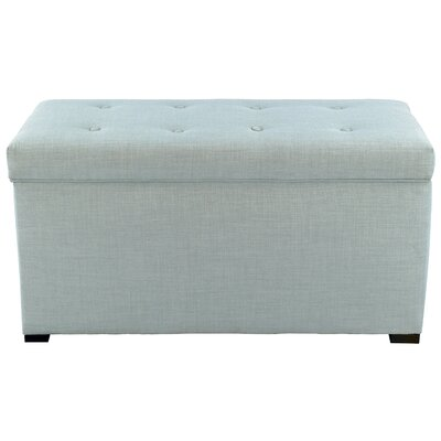 Fabric Storage Bench Color: Sea Mist Green