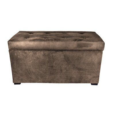 Obsession Storage Bench Color: Brownstone