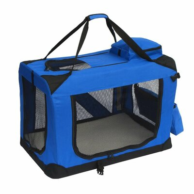 """Pet Carrier Size: 20"""" H x 20"""" W x 27.5"""" L, Color: Blue"""