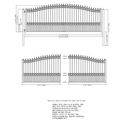 London Steel Single Sliding Driveway Gate Size: 73'' H x 210'' W