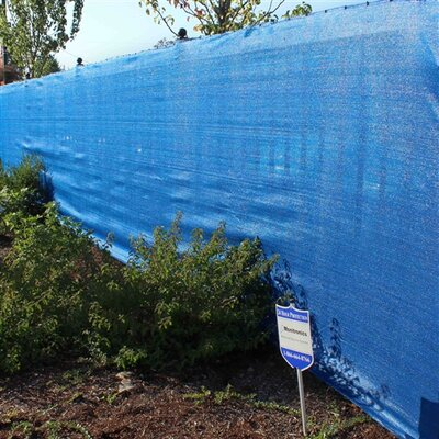 """Outdoor Backyard Fencing Privacy Windscreen Finish: Blue, Size: 72"""" H x 600"""" W x 0.25"""" D"""