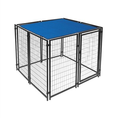 """Mercier Dog Kennel Shade Cover with Aluminum Grommets Color: Blue, Size: 60"""" H x 60"""" W x 0.25"""" D"""