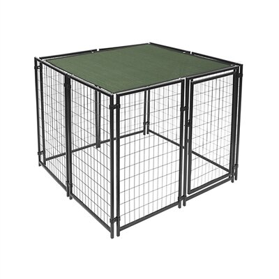 """Mercier Dog Kennel Shade Cover with Aluminum Grommets Color: Green, Size: 72"""" H x 180"""" W x 0.25"""" D"""