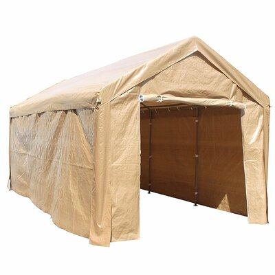Heavy Duty Outdoor 10 Ft. W x 20 Ft. D Metal Party Tent Roof Color: Beige