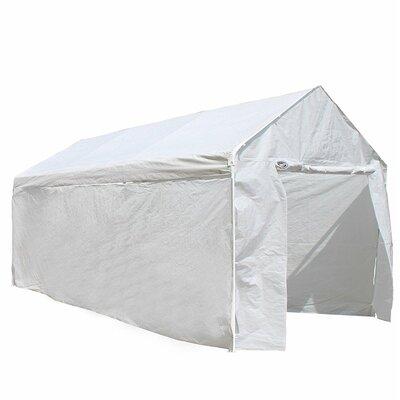 Heavy Duty Steel Frame Carport Kit 10 Ft. W x 20 Ft. D Party Tent