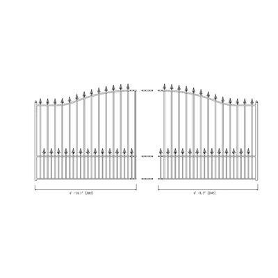 Munich Steel Single Swing Driveway Gate Size: 74.8'' H x 168.9'' W