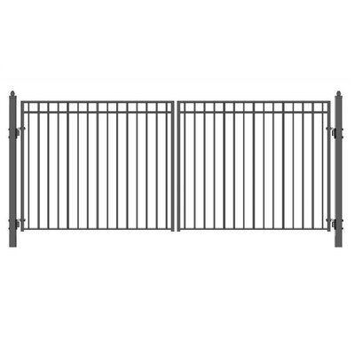"Madrid Steel Dual Swing Driveway Gate Size: 72.8"" H x 192"" W"
