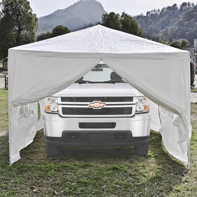 10 Ft. W x 20 Ft. D Metal Party Tent