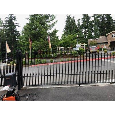 Munich Steel Single Sliding Driveway Gate Size: 72.8'' H x 209.8'' W