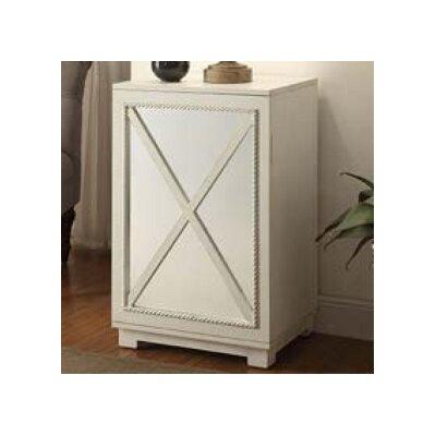 Criss-cross Door Wood Cabinet