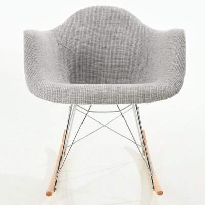 Rocking Chair Color: Light Gray