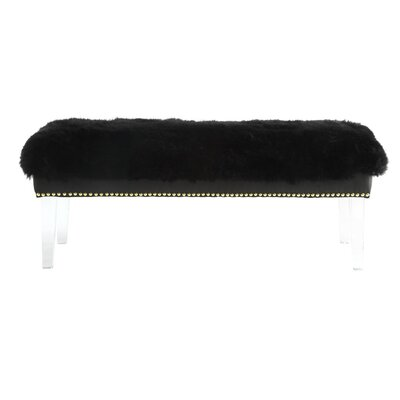 Shepherd Sheepskin Bench Color: Black