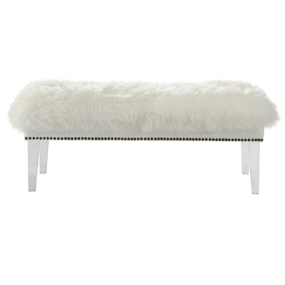 Shepherd Sheepskin Bench Color: White