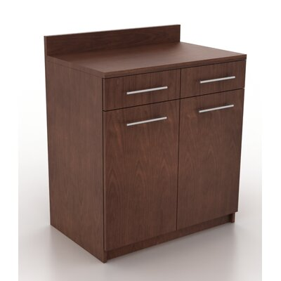 Modern Breakroom Storage Cabinet Color: Kona Walnut