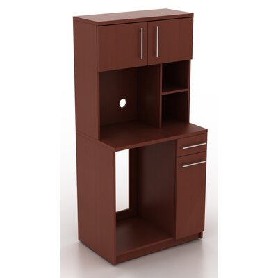 "Modern Breakroom 76.25"" H x 35.88"" W Desk Hutch Finish: Crown Cherry"