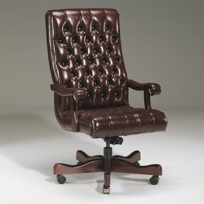 Executive Chair Upholstery Color: Java, Frame Finish: Mahogany, Tilt Mechanism: Included