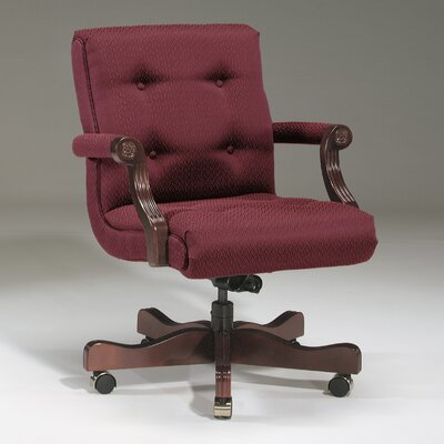 Executive Chair Upholstery Color: Black, Frame Finish: Mahogany, Tilt Mechanism: Included